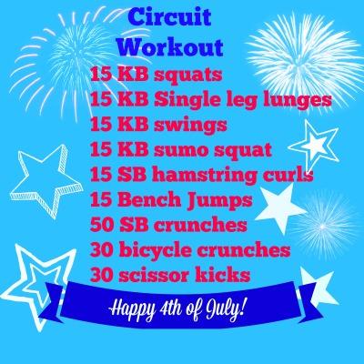 Circuit workout July 4th