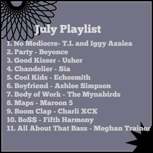 July playlist 2