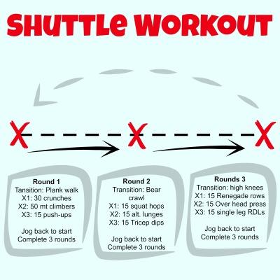 Shuttle workout