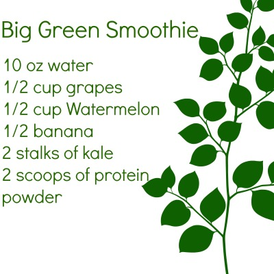 BIG green smoothie